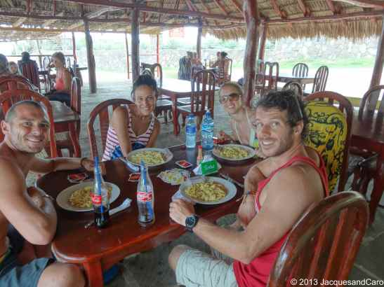 The best pasta of all Central America…with Aicha and J-B