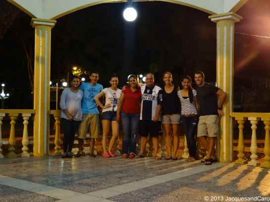 With Oscar family in Choluteca