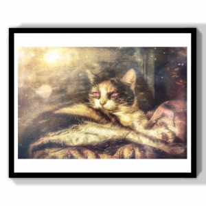 witch art cat lover gift