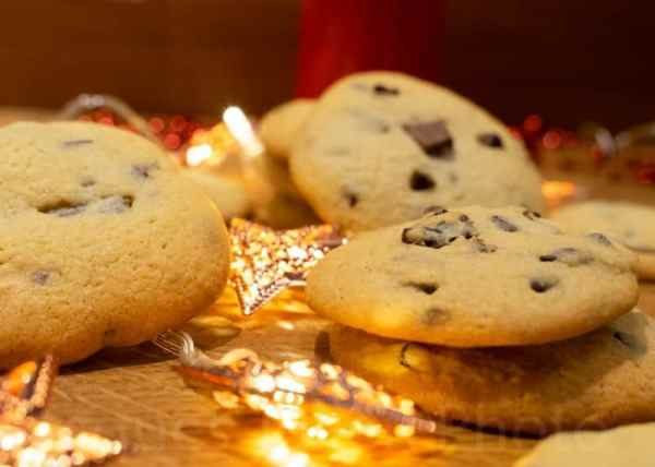 Close view of cookies with decoration