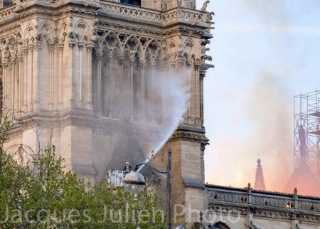 Paris Fire Cathedral Photography