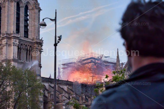 Notre-Dame de Paris Cathedral on Fire – 15 April 2019