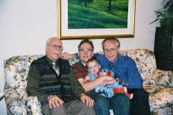 Quatre générations de Lanciault : André, Marc-André, Félix et Jacques.