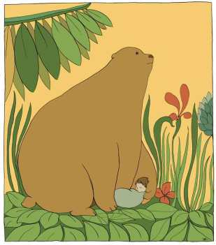 Bear and Baby Print and card