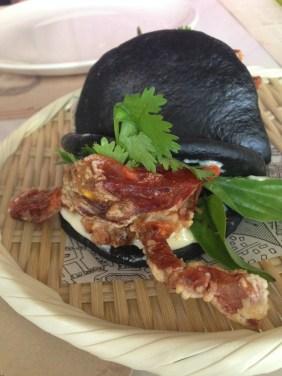 Bahn Bao Cua Lot - Soft shell crab, coriander, chilli lime mayo