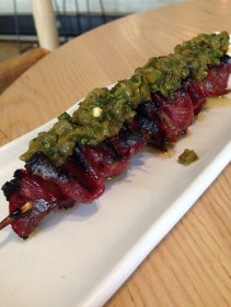 BBQ Wagyu Tongue with mojo verde