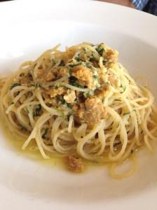 Thin spaghetti with sea urchin - The Fish House, Burleigh Heads, QLD