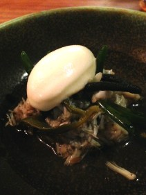 Mud crab, karkalla, sea purslane, codium & yoghurt
