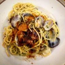 Spaghette alle vongole and bottarga