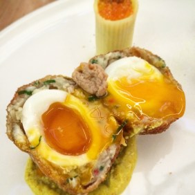 The smoked green mullet scotch egg