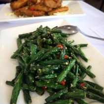Green beans with garlic and chilli
