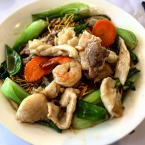 Combination crispy noodles