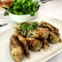 Hanoi spring rolls with fresh herbs and classic dipping sauce