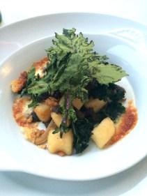 Baked potato gnocchi, taleggio, local oyster mushrooms, kale