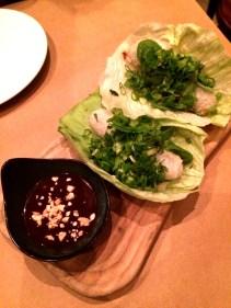 Crispy Hanoi duck spring rolls, black vinegar and hoisin dressing