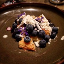 Blueberries, yoghurt, leatherwood honey