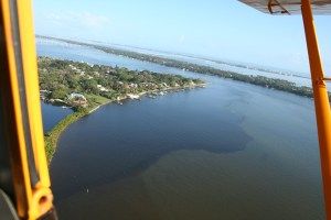 Warner Creek and surrounding runoff into the St Lucie River Indian River Lagoon 2-2-14