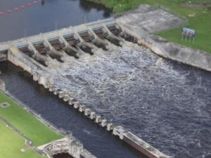 S-80 releasing at StLucie Lock and Dam.