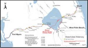 Okeechobee Waterway from Atlantic to Gulf of Mexico. (Map, public)