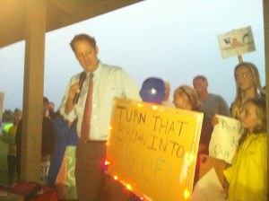 Senator Negron at the River Kidz' first rally for the river in October 2012. St Lucie locks and Dam. (Photo JTL)