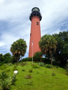 Jupiter Lighthouse sits a top an ancient Native American shell midden.