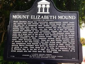 Historic marker for Mount Elizabeth.