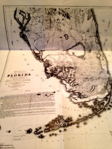 1856 War Map of Florida Everglades, Florida Classic Library.