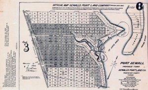 Port Sewall development map 1911. (courtesy of Sandra henderson Thurlow.)