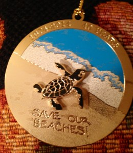 Save Our Beaches Kiwanis holiday ornament 1974-2014, 40 Years, in honor of Save Our Beaches program Martin County.