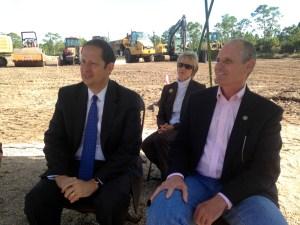 Senator Joe Negron and Rich Budell, FDACS. (Photo JTL)
