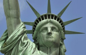 The Statue of Liberty was a gift from the French to the United States. (Public image.)
