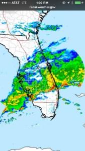 Radar weather from 4-29-15. My phone, JTL.