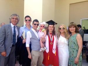 Ed, Stanley, Ben, Capri, Darci, Kelly, and Lupi at graduation UM.