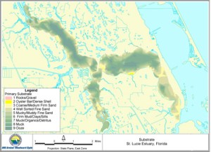 St Lucie River substrate map, DEP, Chris Perry. (http://www.dep.state.fl.us/coastal/sites/northfork/resources/physical.htm)