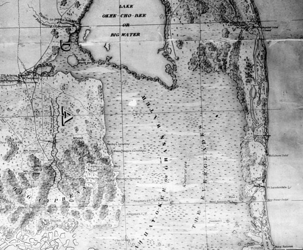 Everglades Unknown early map from negative