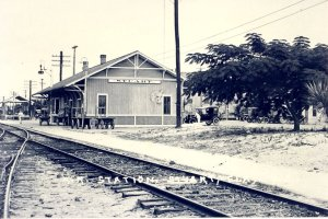 Stuart Train Depot, photo courtesy of Historical Society of Martin County, Elliott Museum via Sandra Thurlow.