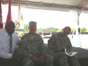 ACOE Col. Pantero and Lt Col. Kinade, 2011. (Photo JTL)