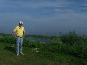 "I took this of your dad with Lake Okeechobee behind him but it was not taken at Torry Island. The Lake just blended with the sky."" Sandra Thurlow"