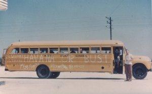 School bus from 1954 senior trip.