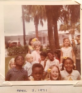 Easter party at our home in 1971, Stuart Florida. Students and Mrs Jernigan were from JD Parker.
