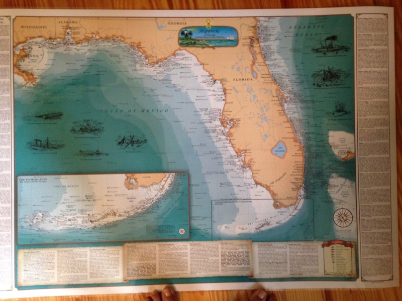 treasure coast ships map   Jacqui Thurlow Lippisch Map of  Shipwrecks of Florida  and the most famous lie along Florida s  Treasure Coast