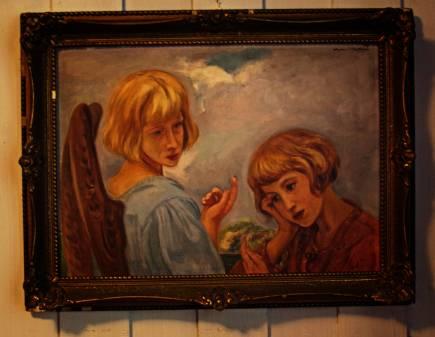 Anioł z dziewczynką i biedronki