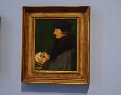 """Portet Erazma z Rotterdamu. Bazylea 1523 rok. Holbein był też twórcą ilustracji do: """"Pochwały głupoty"""" Erazma z Rotterdamu, """"Utopii"""" Tomasza More oraz biblii Marcina Lutra"""