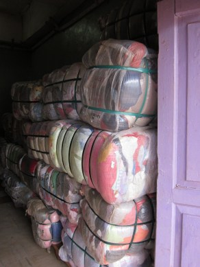 You know that ratty t-shirt you donated to Salvation Army? It was sent to Africa in this clothes bale.