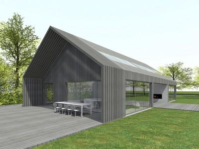 Schuurwoning nieuwerkerk aan den ijssel jade architecten - Moderne entreehal ...