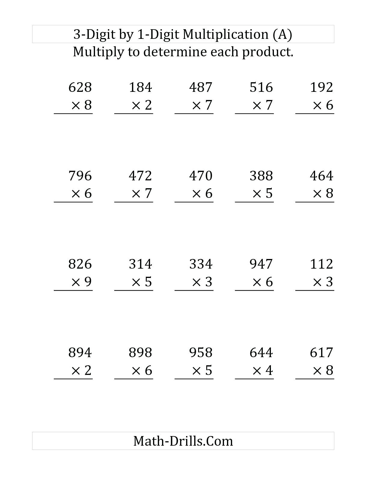 30 Double Digit Multiplication Worksheets Free