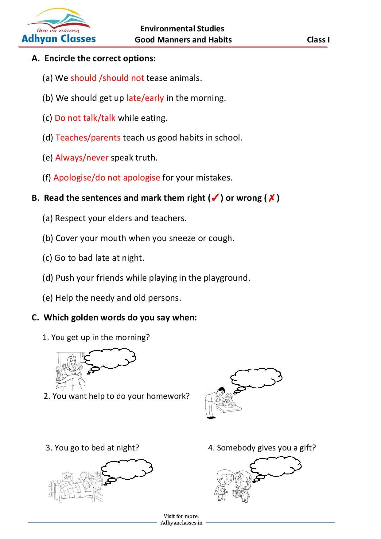 30 Teaching Table Manners Worksheets