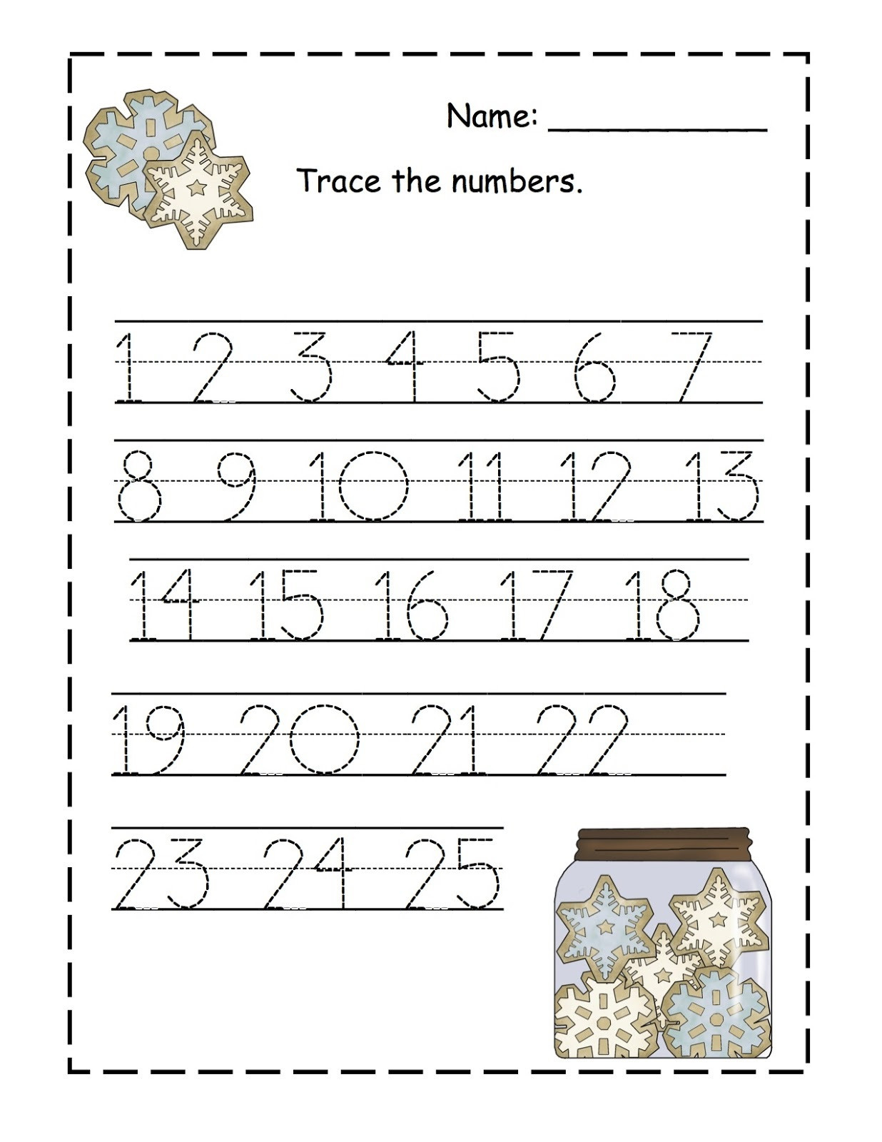 30 Tracing Numbers 1 100 Worksheets