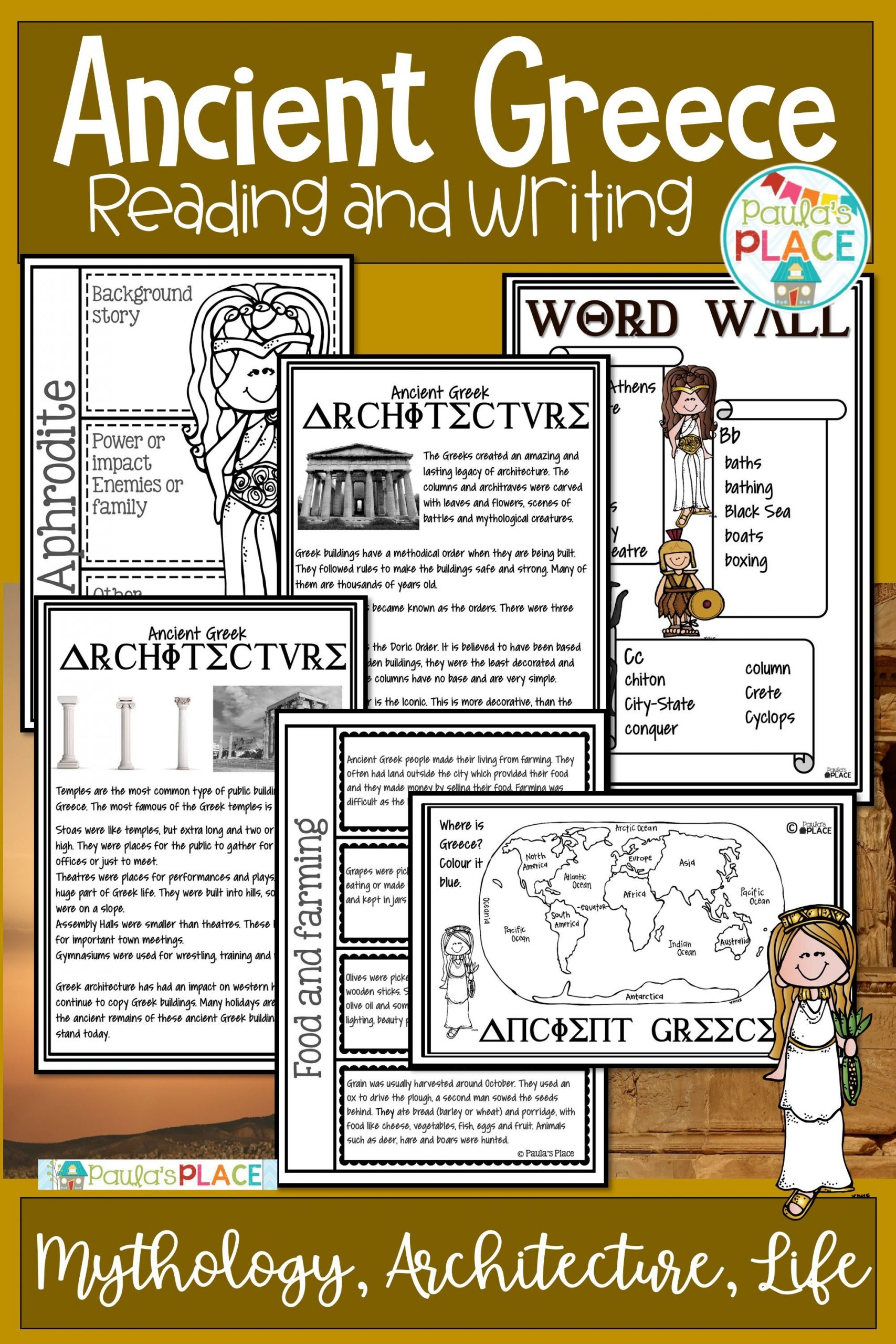 30 Ancient Greece Reading Comprehension Worksheets