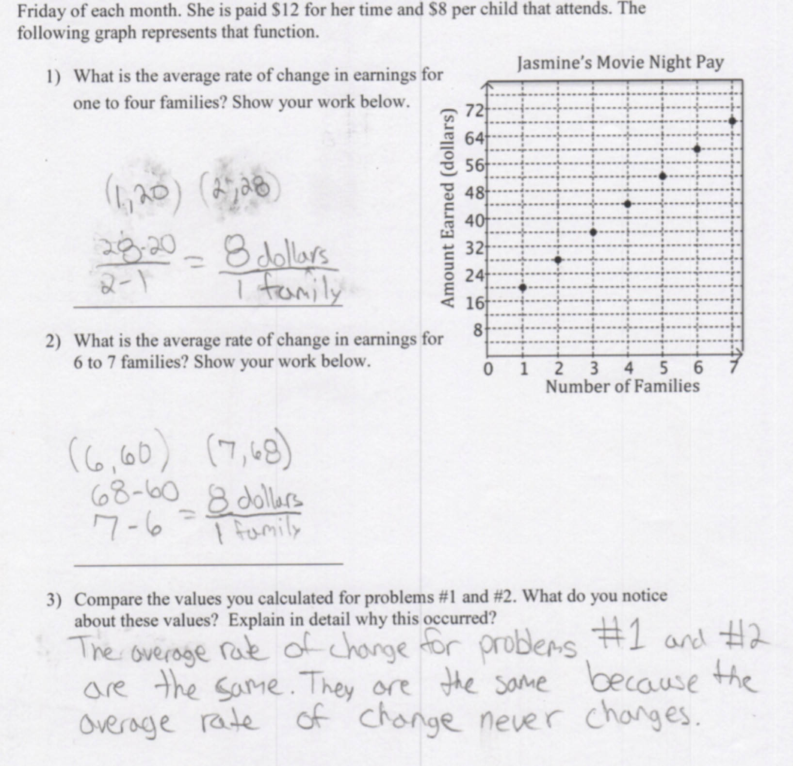 30 Comparing Rate Of Change Worksheet